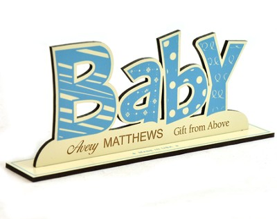 Personalized, Word Silhouette, Baby Boy   -