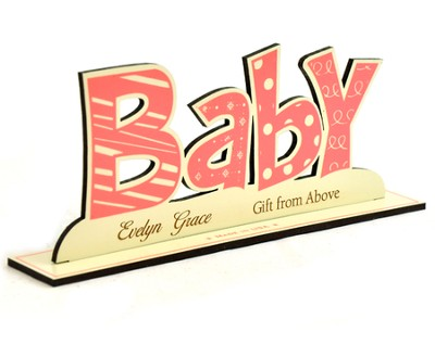 Personalized, Word Silhouette, Baby Girl   -