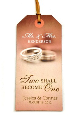 Personalized, Gift Tag, Two Shall Become One   -