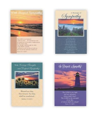 Landscapes Sympathy Cards, Box of 12  -