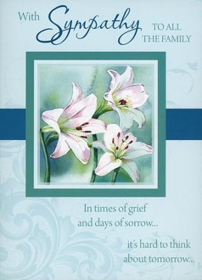 Flowers & Scenery--Sympathy Cards, Box of 12  -
