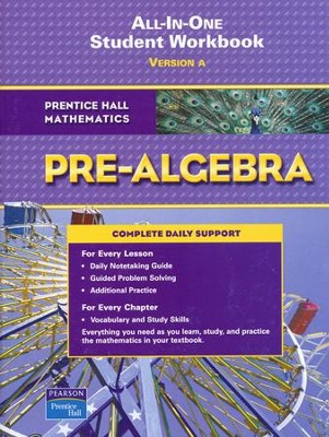 Prentice Hall Mathematics: Pre-Algebra Student Workbook   -