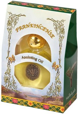 Frankincense Anointing Oil with Widow's Mite Replica   -