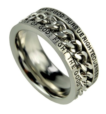 Chain Ring, Man of God, Size 8  -