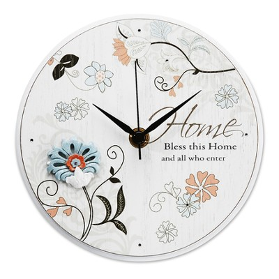 Bless This Home Clock  -