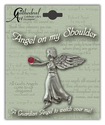 July Birthstone Angel Lapel Pin  -