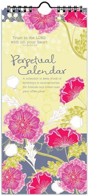 Trust in the Lord, Hanging Perpetual Calendar  -