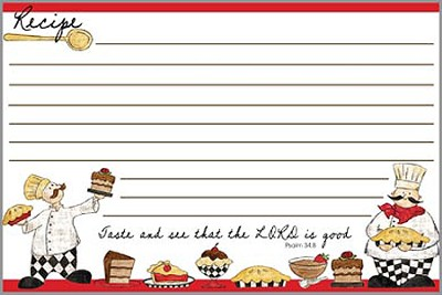 Taste and See That the Lord is Good, Recipe Cards, Pack of 36  -