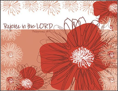 Rejoice in the Lord, Blank Note Cards, Box of 8  -