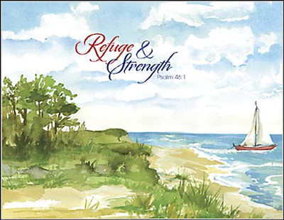 Refuge and Strength, Blank Note Cards, Box of 8  -
