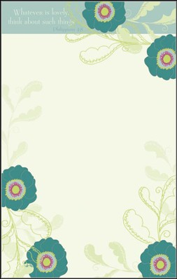 Whatever is Lovely List Pad  -