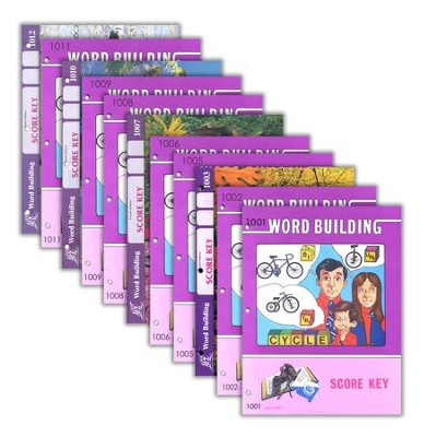 Grade 1 Word Building SCORE Keys 1001-1012 (with 4th Edition   Score Keys 1007 & 1010)  -