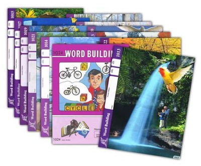 Grade 2 Word Building PACEs 1013-1024 (with 4th Edition  PACEs 1013, 1015, 1017, 1018 & 1020)    -