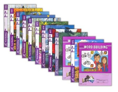 Grade 7 Word Building PACEs 1073-1084, 3rd Edition (with 4th Edition PACEs 1074 & 1076-1084)  -