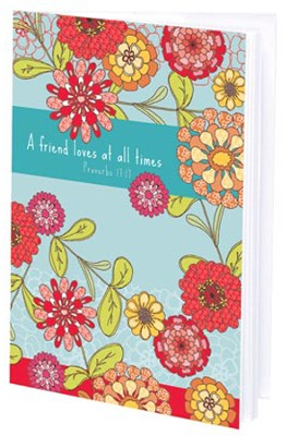 A Friend Loves at All Times Mini Journal  -