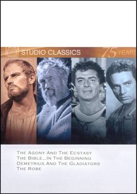 The Agony & The Ecstacy/The Bible...In The Beginning/Demetrius  and the Gladiators/The Robe, Multi Feature DVD  -