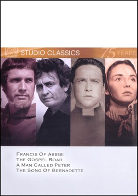 Francis of Assisi/The Gospel Road/A Man Called Peter/The Song Of  Bernadette, Multi Feature DVD  -