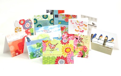 Assorted Blank Note Cards, Box of 12   -