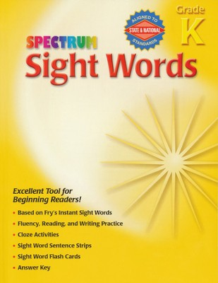 Spectrum Sight Words Grade K   -