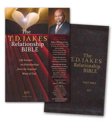The T.D. Jakes Relationship Bible Deluxe Retail Edition: Life Lessons on Relationships from the Inspired Word of God, KJV  -     By: T.D. Jakes