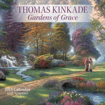 2014 Wall Calendar, Thomas Kinkade, Gardens of Grace  -     By: Thomas Kinkade