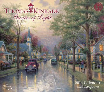 2014 Painter of Light Wall calendar   -     By: Thomas Kinkade