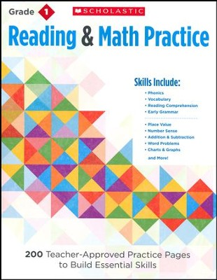 Reading and Math Practice  (Grade 1)              1): 200 Teacher-Approved Practice Pages to Build  -     By: Martin Lee, Marcia Miller