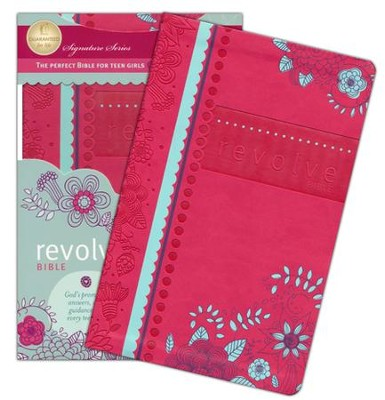 NCV Revolve Bible, Leathersoft, raspberry  -