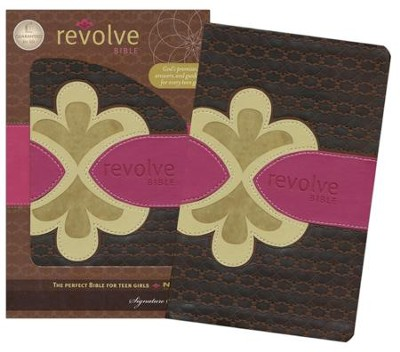 NCV Revolve Bible, Leathersoft, chocolate/raspberry/biscuit  -