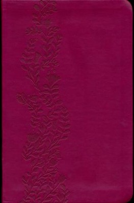 KJV Ultraslim Bible, Leathersoft, cranberry - Slightly Imperfect  -
