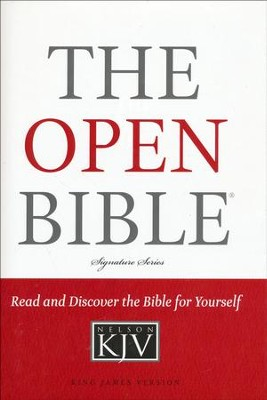 KJV Open Bible, Hardcover  -