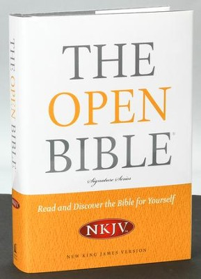 NKJV Open Bible, Hardcover  -