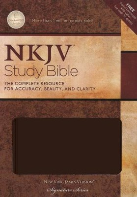The NKJV Study Bible, Leathersoft dark chocolate, indexed  -