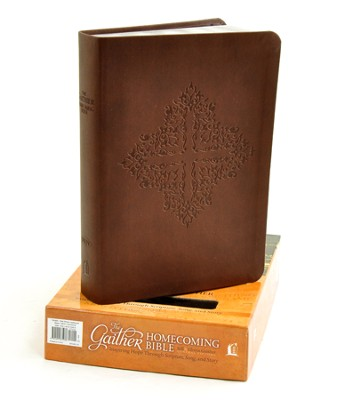 NKJV Gaither Homecoming Bible, Leathersoft, brown indexed  -     Edited By: Bill Gaither, Gloria Gaither