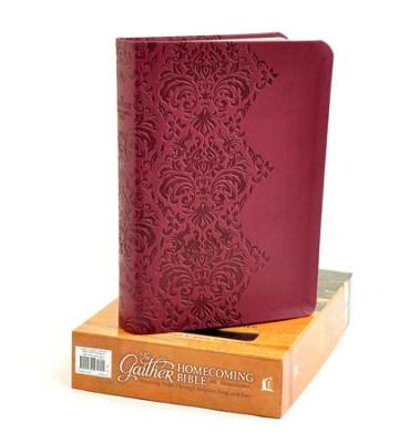 NKJV Gaither Homecoming Bible, Leathersoft burgundy indexed  -     Edited By: Bill Gaither, Gloria Gaither