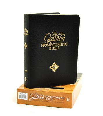 NKJV Gaither Homecoming Bible, Bonded leather, black  - Imperfectly Imprinted Bibles  -     Edited By: Bill Gaither, Gloria Gaither     By: Edited by Bill & Gloria Gaither