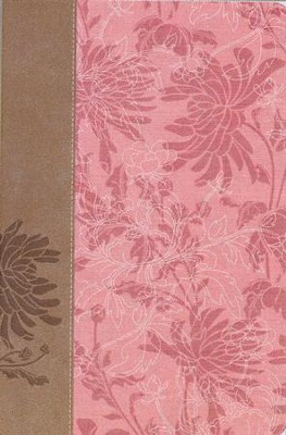 NIV The Woman's Study Bible--soft leather-look, pink/cafe au lait (indexed)  -