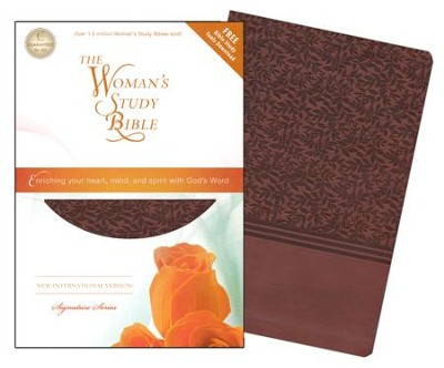 NIV The Woman's Study Bible--soft leather-look, auburn (indexed) - Imperfectly Imprinted Bibles  -