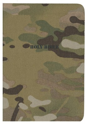 NKJV American Patriot's Pocket Bible, flexible cloth, camoflage  -