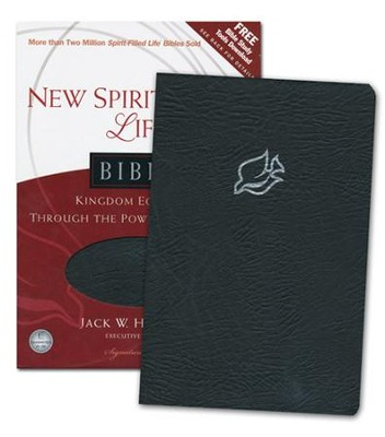 NLT New Spirit Filled Life Bible, Bonded Leather, black-indexed  -     Edited By: Jack Hayford