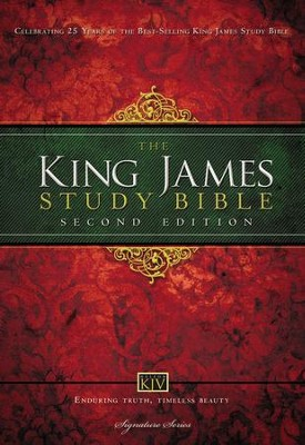 King James Study Bible, Second Edition, Hardcover   -