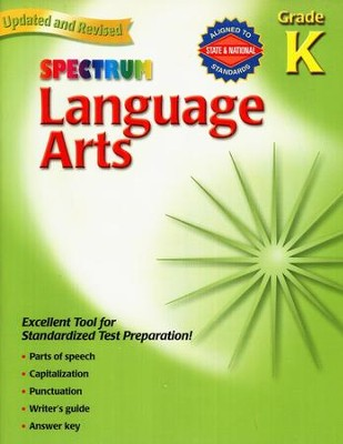 Spectrum Language Arts, Grade K  -