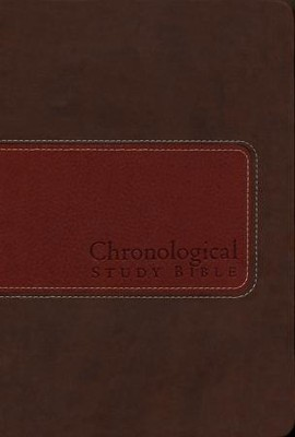 NIV Chronological Study Bible, Leathersoft, brown/auburn  -