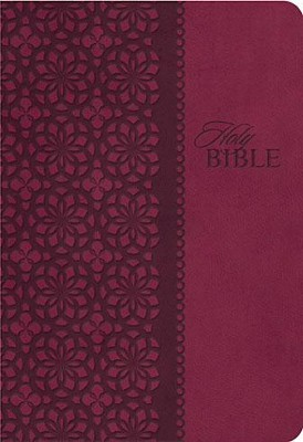 King James Study Bible, Second Edition, Leathersoft, Cranberry--indexed  -