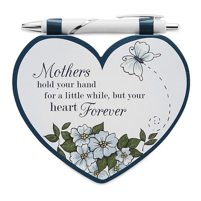 Heart Shaped Notepad and Pen Set, Mother  -