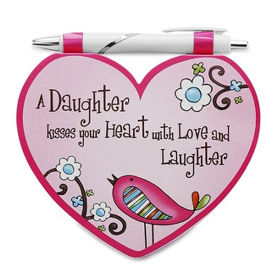 Heart Shaped Notepad and Pen Set, Daughter  -