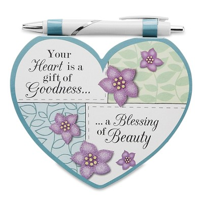 Heart Shaped Notepad and Pen Set, Someone Special  -