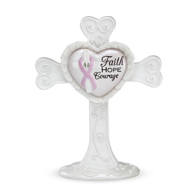 Faith, Hope, Courage Standing Cross  -