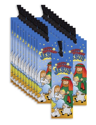 Happy Birthday Jesus Bookmarks, Pack of 24   -