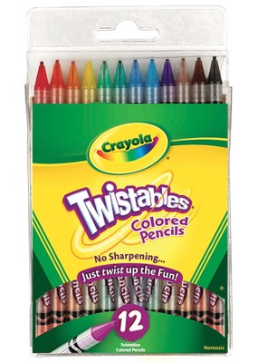 Twistable &#174 Colored Pencils, Set of 12  -